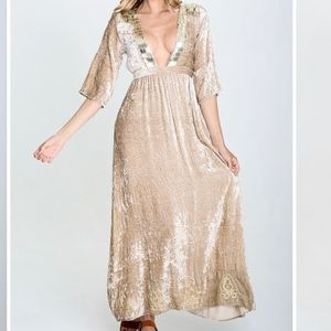 Raga Romantic Visions Plunge Maxi Dress